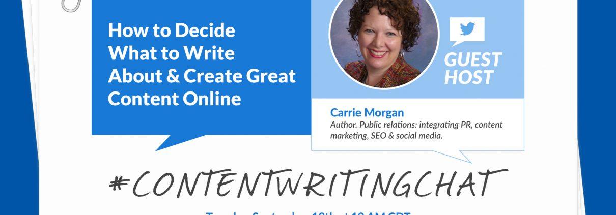 #ContentWritingChat, create great online content