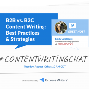 #ContentWritingChat, B2B vs. B2C content writing