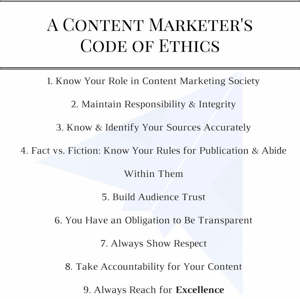 content marketer ethics