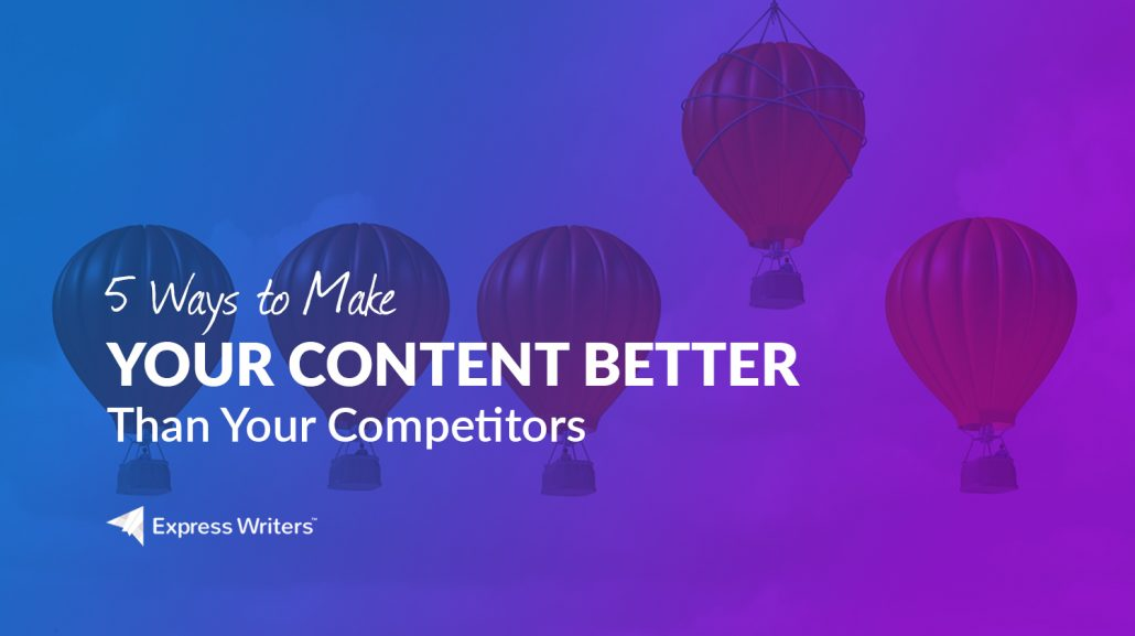 competitors and content marketing