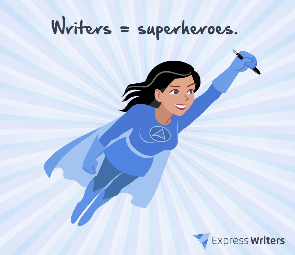 need a writer superhero