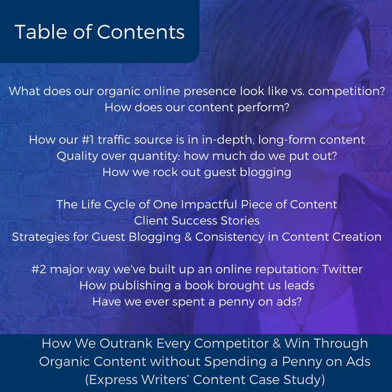 how we outrank competition table of contents