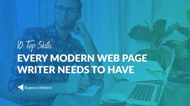 skills every modern web page writer