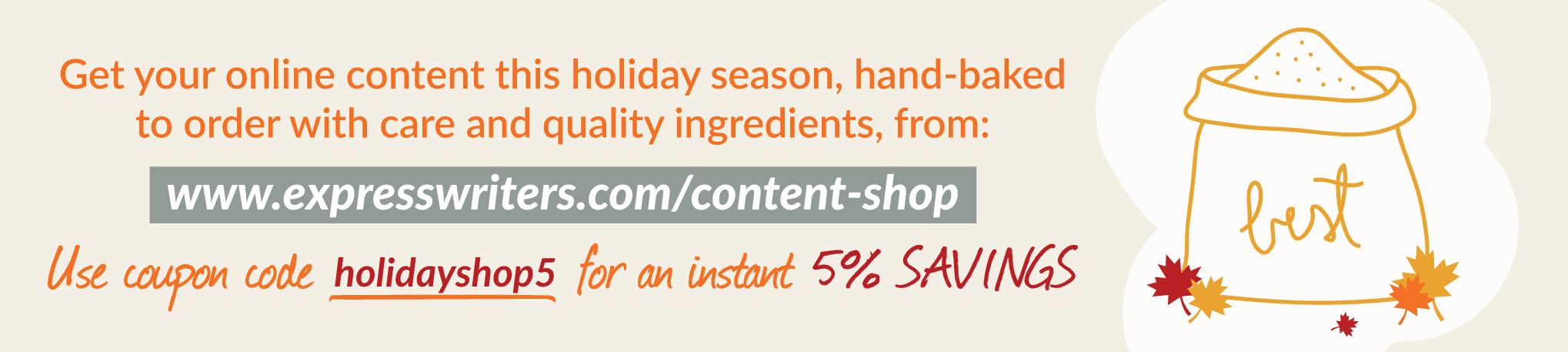 holiday content coupon ew