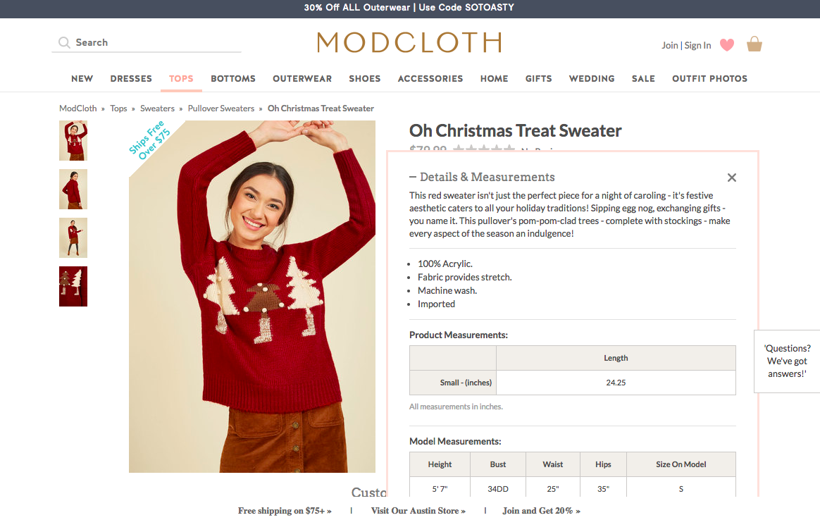 Oh Christmas Treat Sweater modcloth