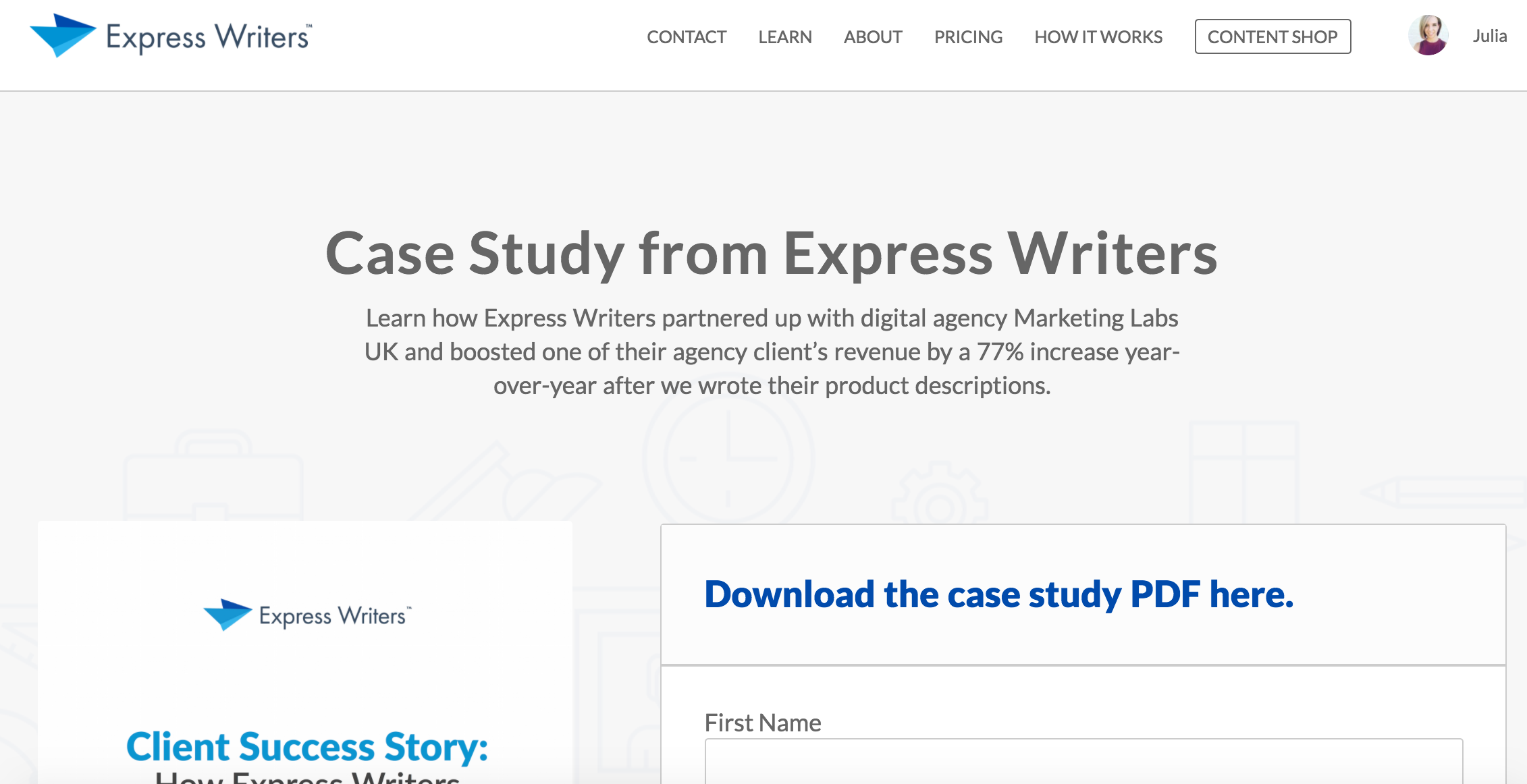 one shot case study design