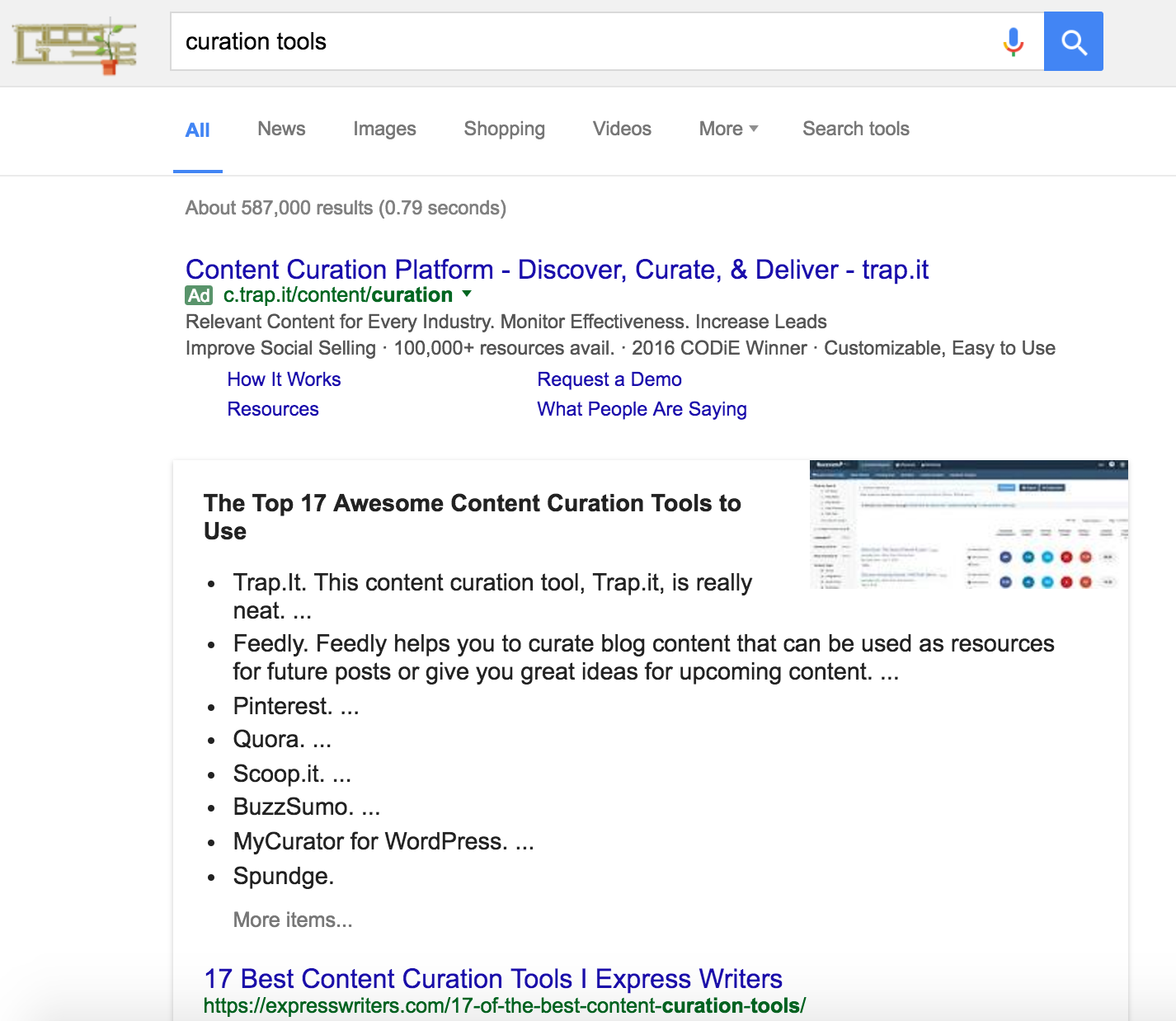 featured snippet content curation