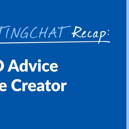 #ContentWritingChat Recap: Practical SEO Advice for the Online Creator with Caleb McElveen