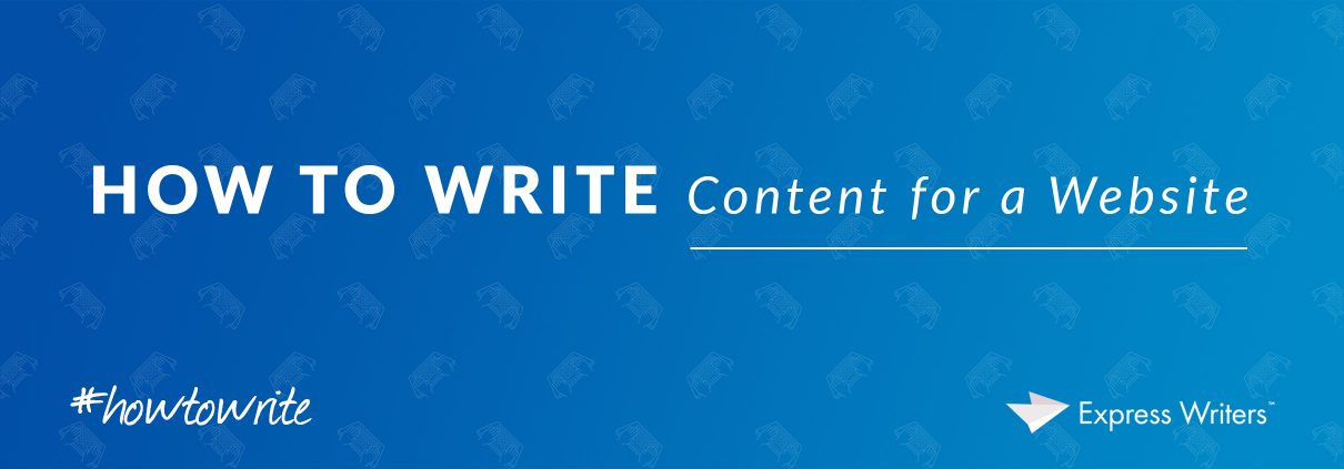how to write content for a website