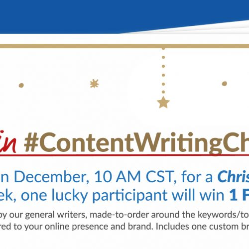 Announcing Our #ContentWritingChat Christmas Giveaway!