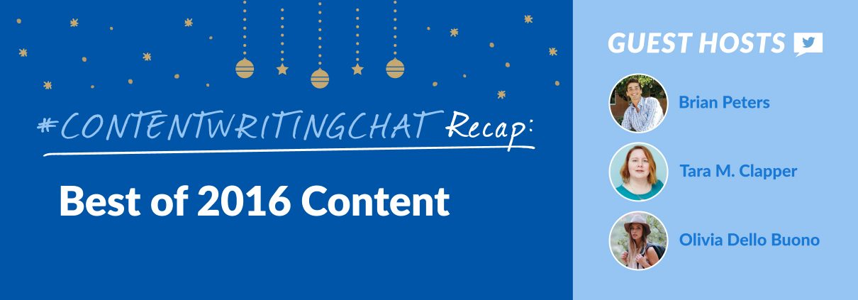 best of 2016 #contentwritingchat