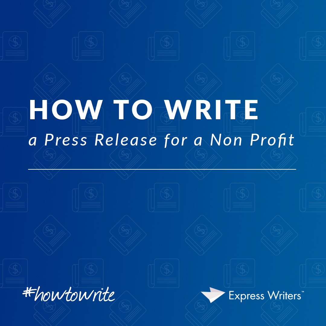 how to write a press release for a nonprofit