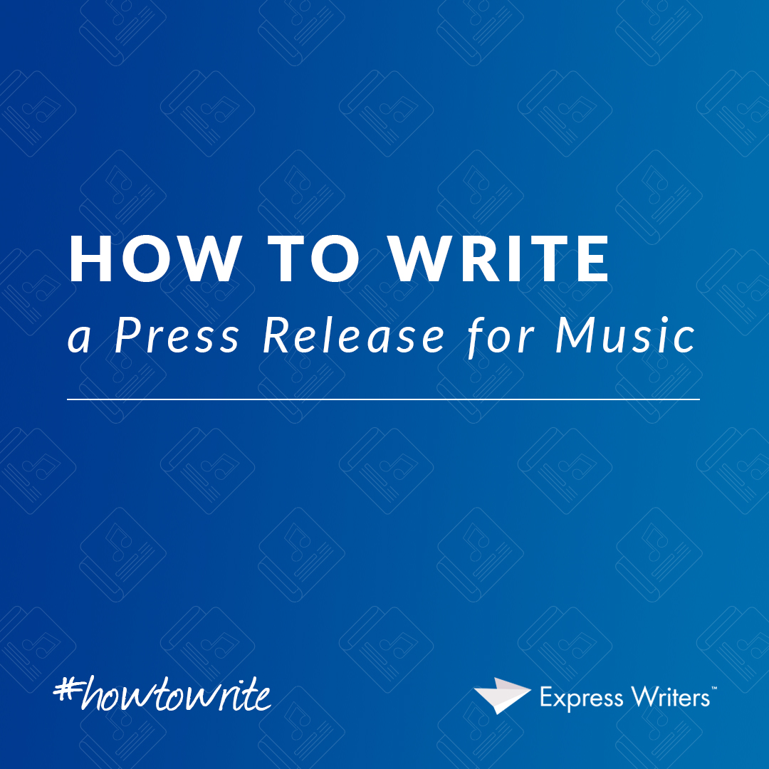 How to write a press release for a music video