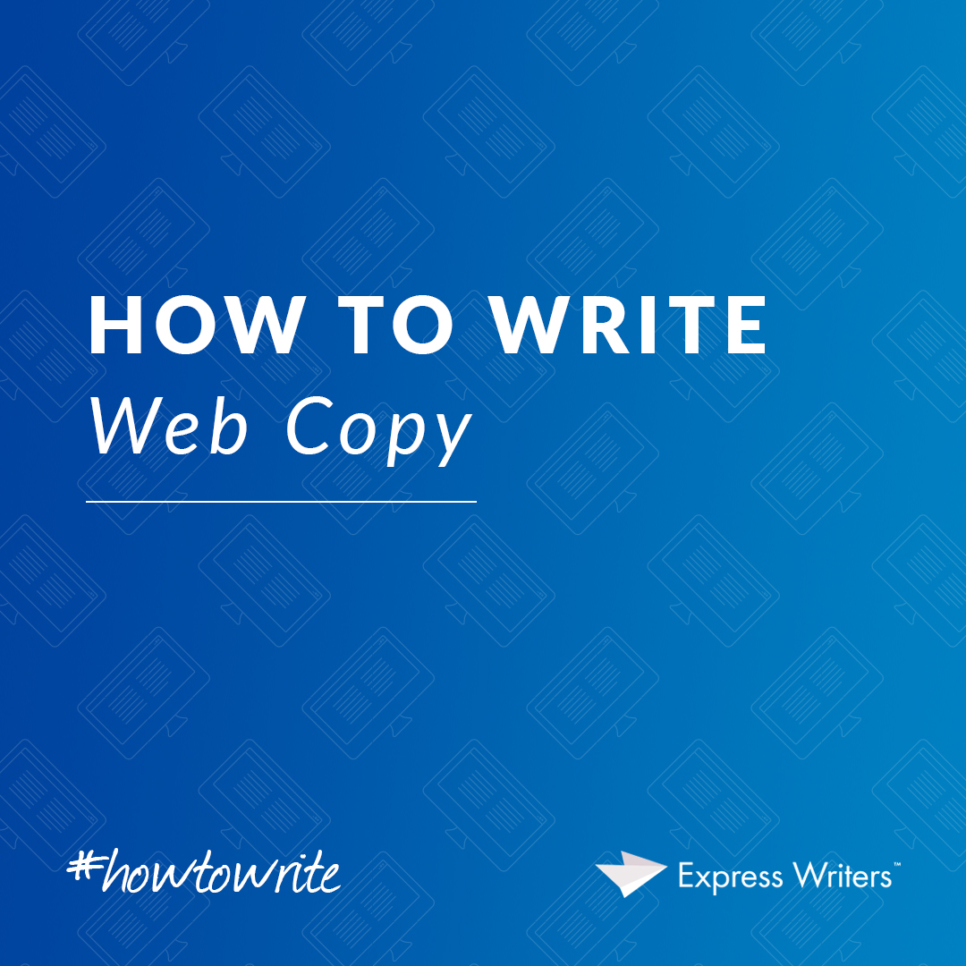 how to write web copy