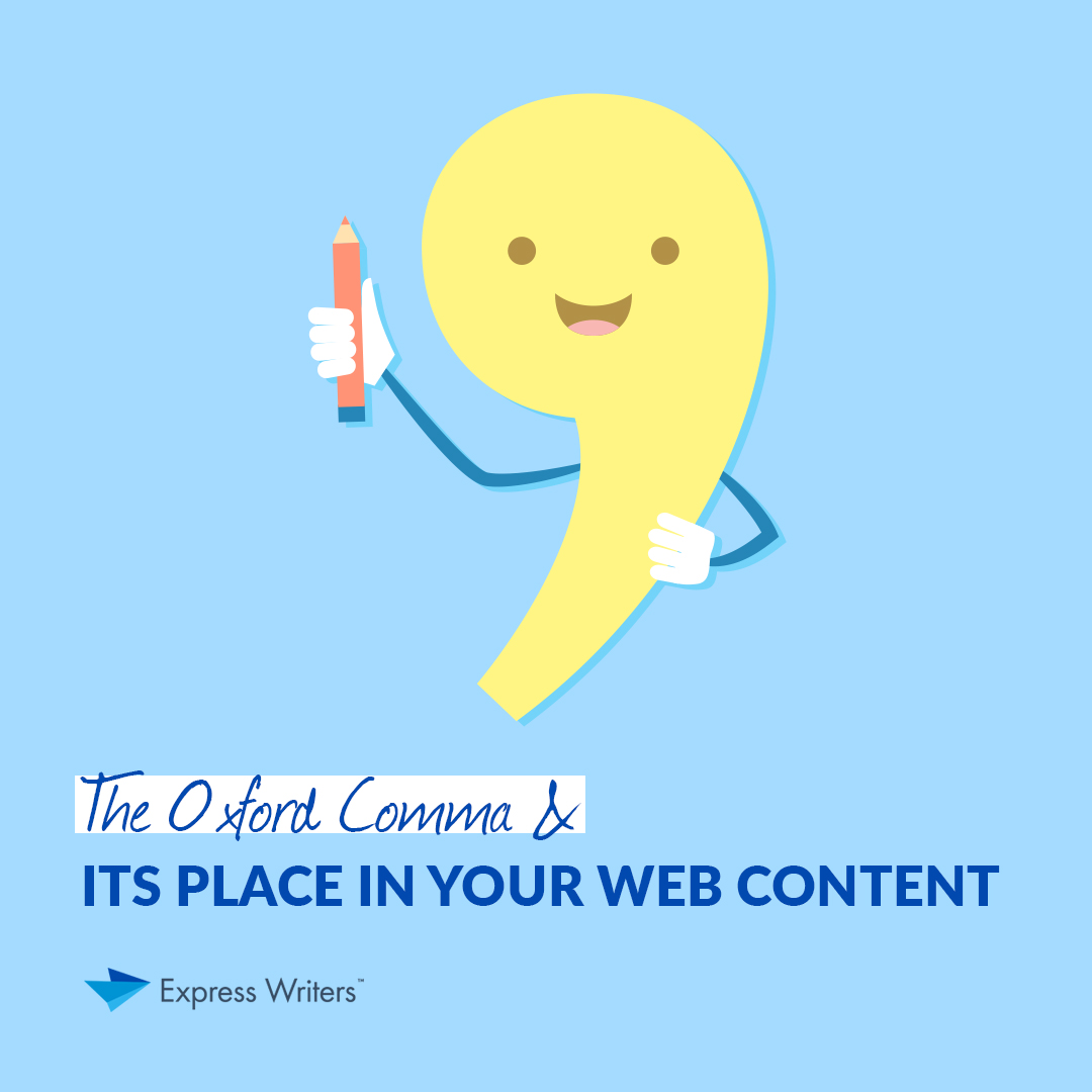 comma in web content