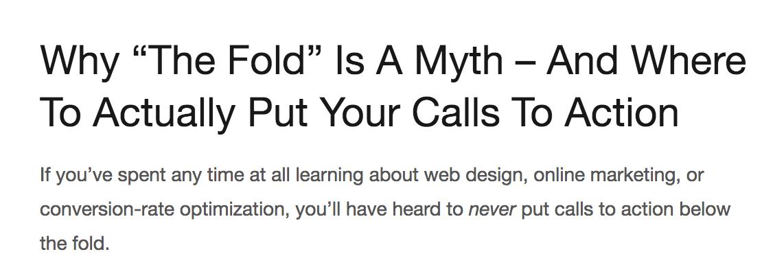 why the fold is a myth