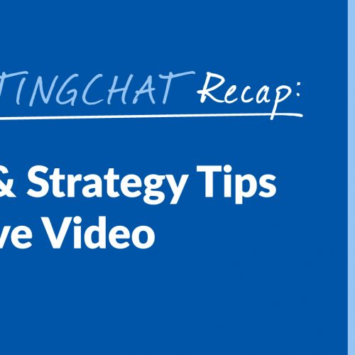 #ContentWritingChat Recap: Top Content & Strategy Tips to Support Live Video with Jennifer Radke