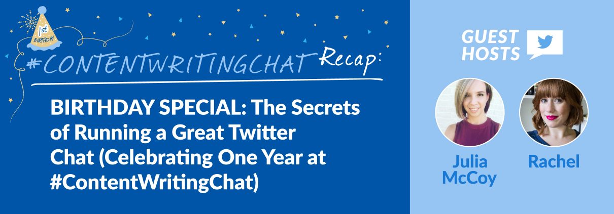 #ContentWritingChat, the secrets of running a great Twitter chat
