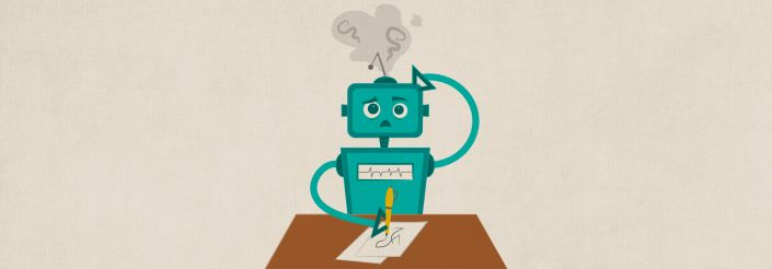 robots won't replace the writer