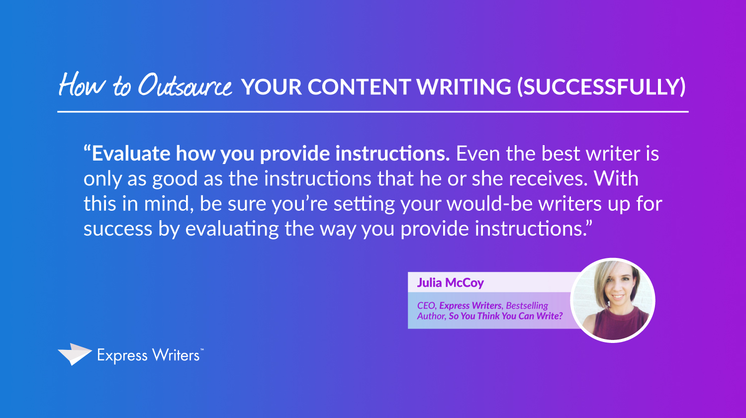 quote by julia mccoy outsource content