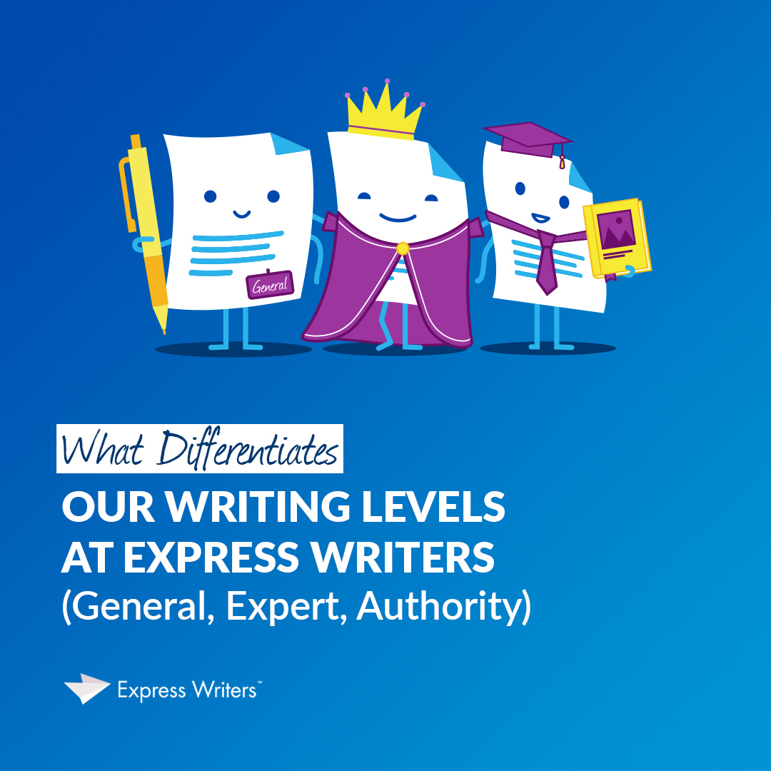 writing levels at express writers