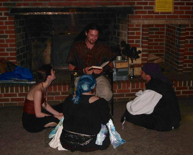 Storytelling in practice at Mystic Realms. Photo: Mystic Realms.