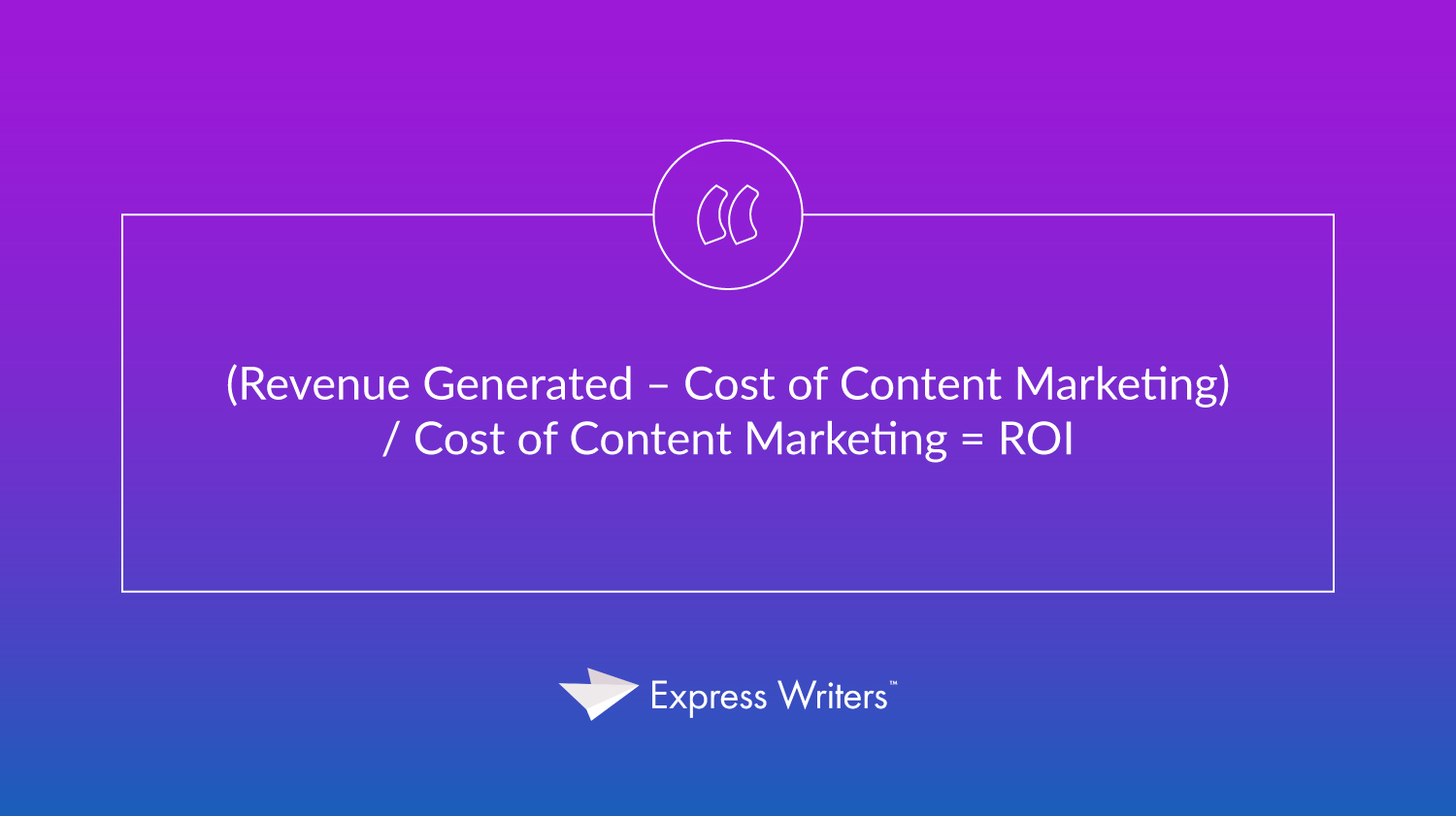 roi of content marketing