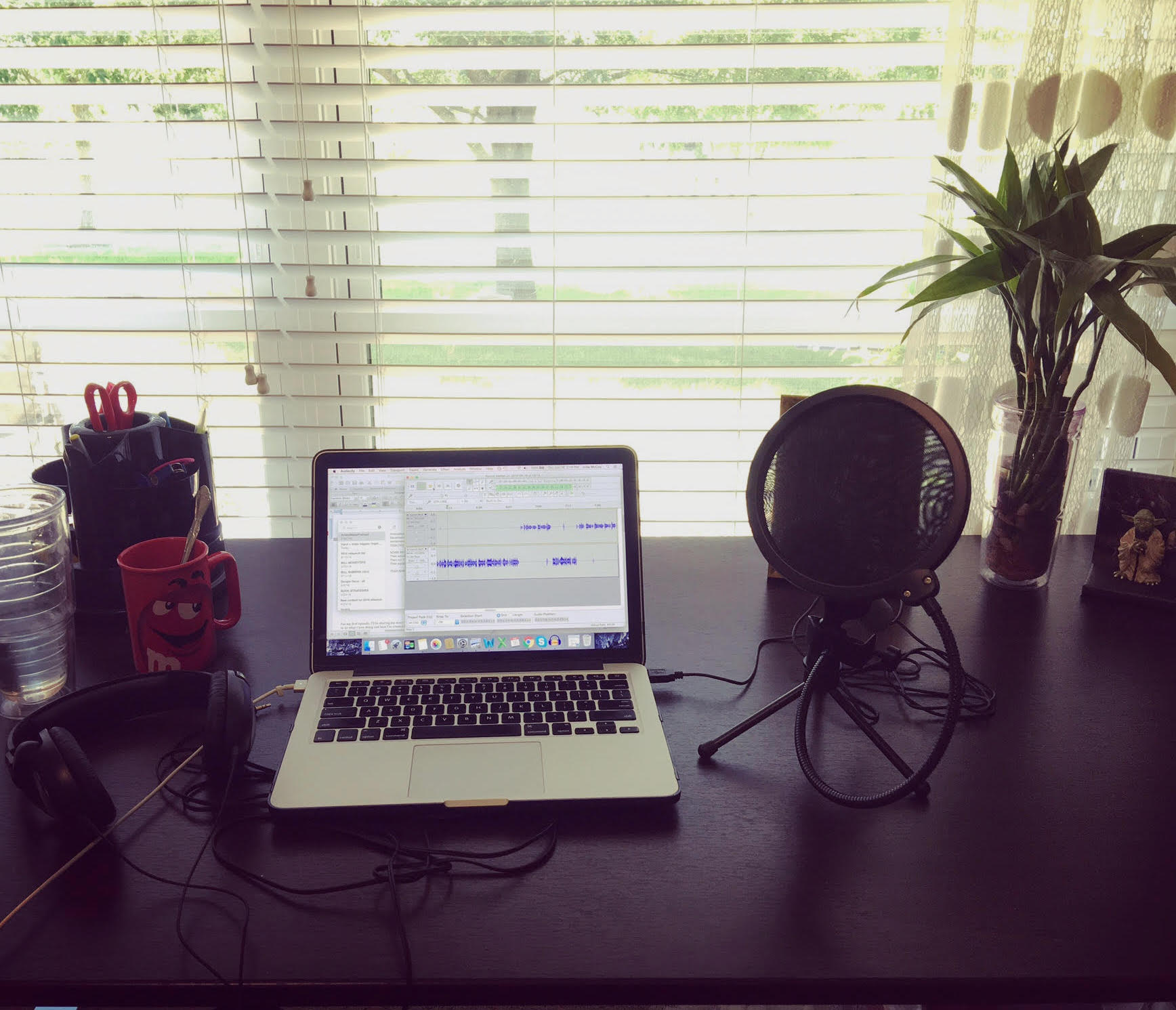 julia's podcast setup