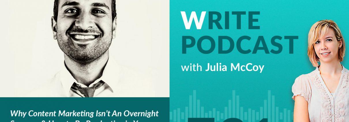 write podcast E21 sujan patel content marketing