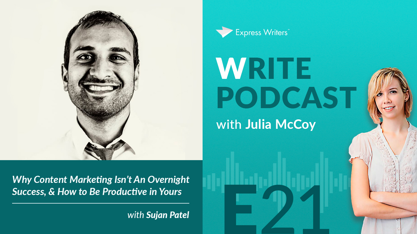 write podcast E21 sujan patel