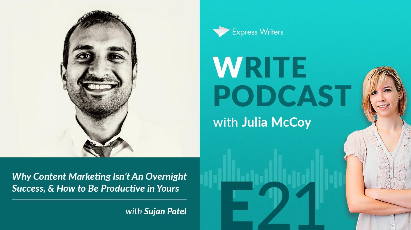 write podcast E21 sujan patel