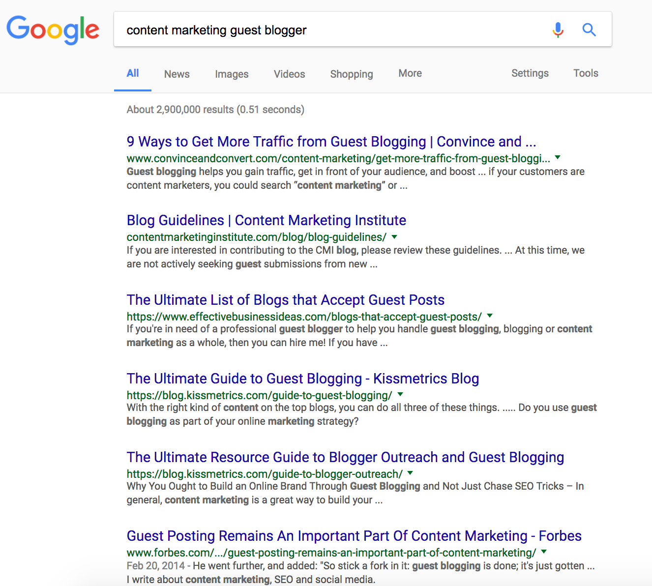 keyword search for guest blogger