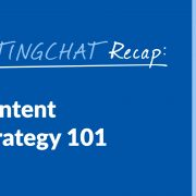 #ContentWritingChat, content marketing strategy