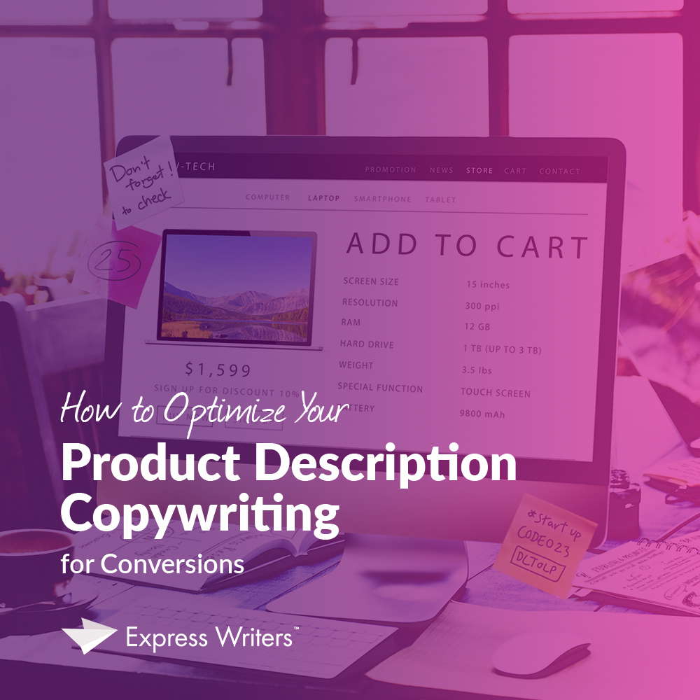 product description copywriting, how to write a product description