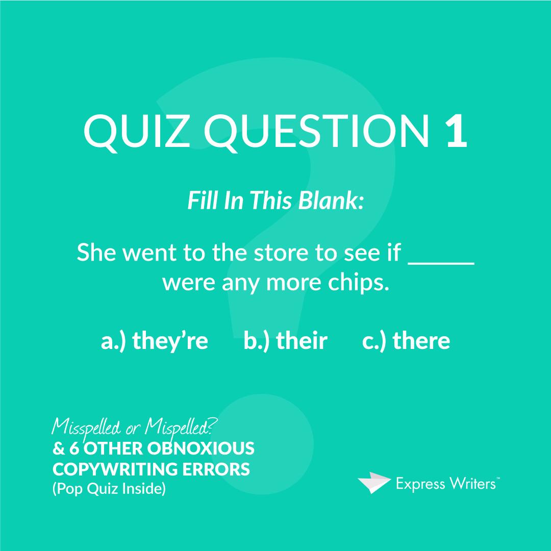 misspelled quiz question 1
