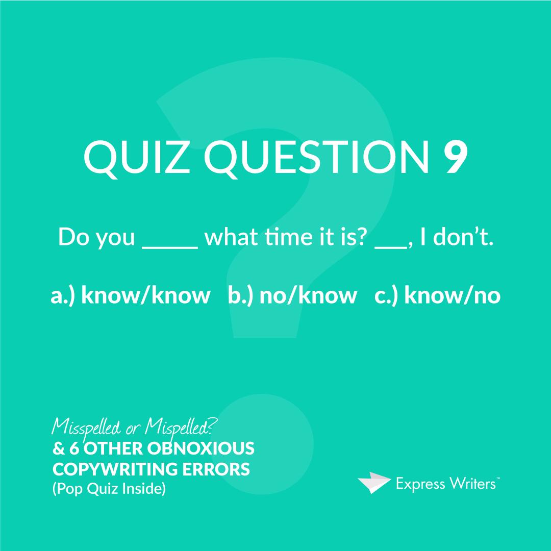 misspelled quiz question 9