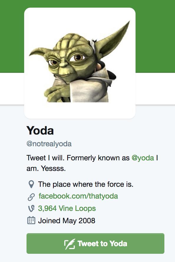 yoda twitter