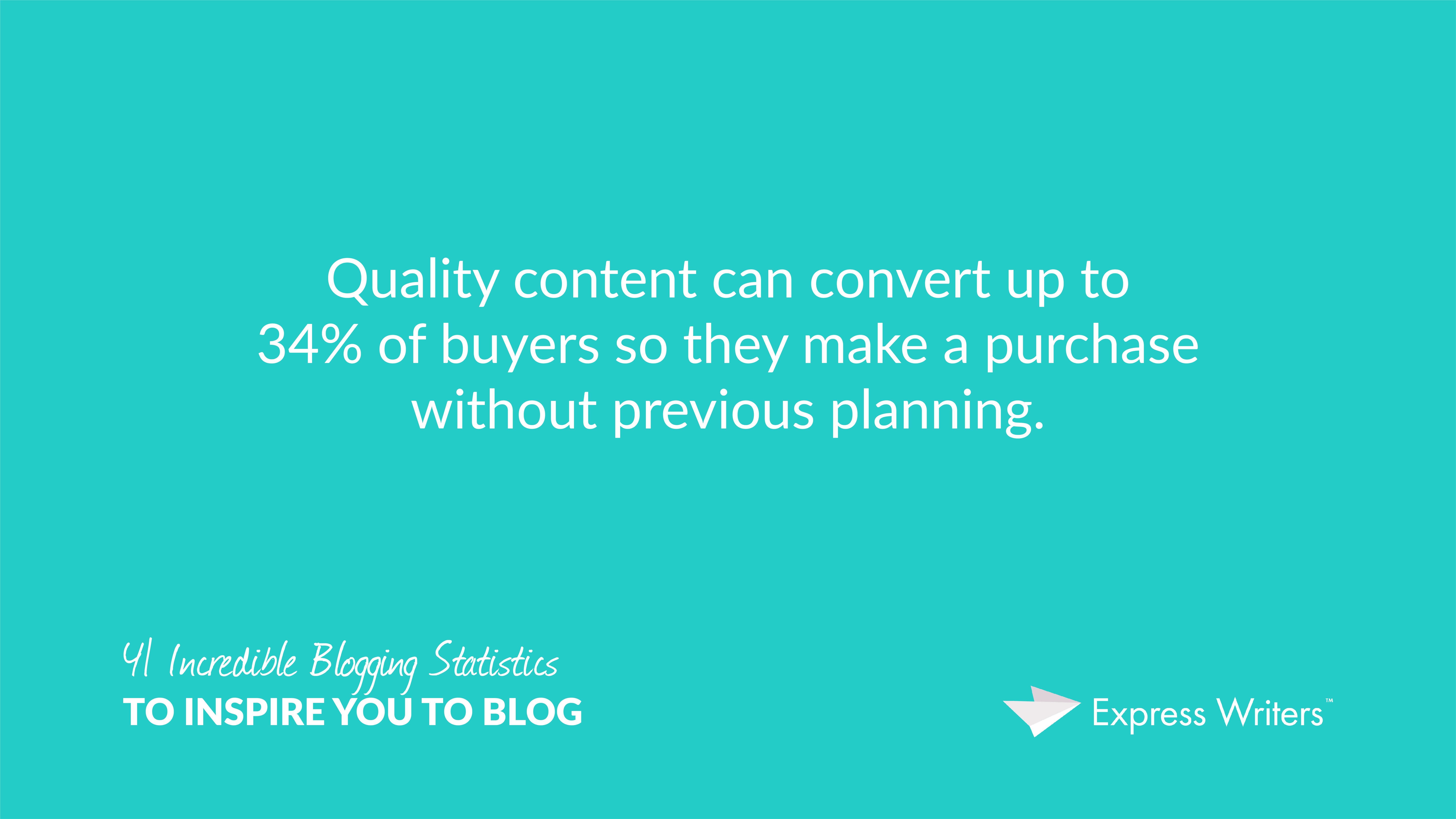 Quality content converts
