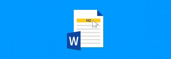 Header Formatting in Word