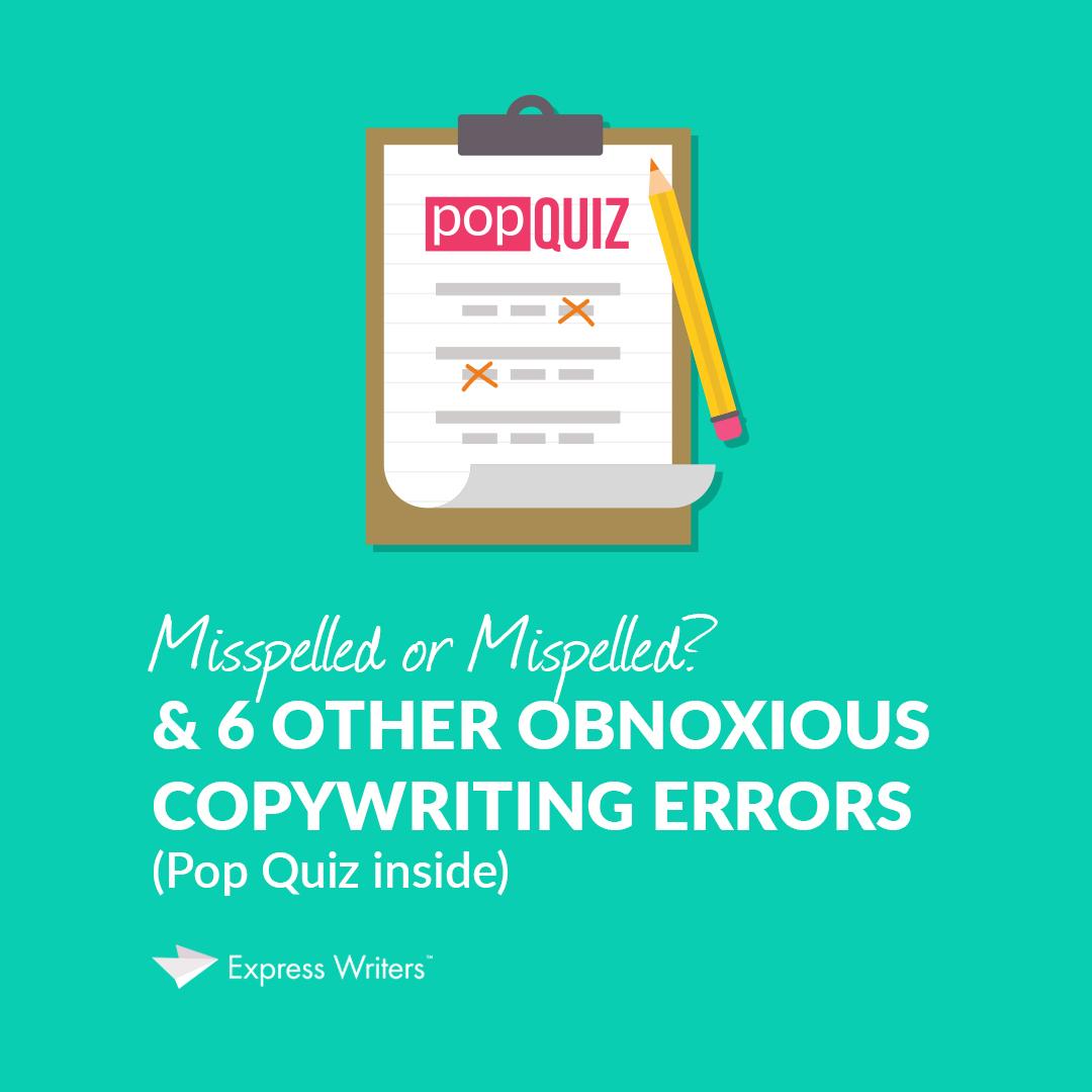 copywriter errors