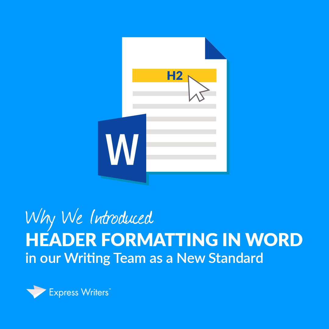 Header Formatting in Word tutorial