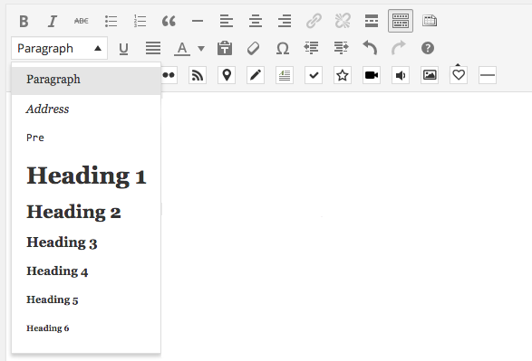 The text formatting menu in WordPress certainly gets the job done, but it's a bit clunky, IMHO.
