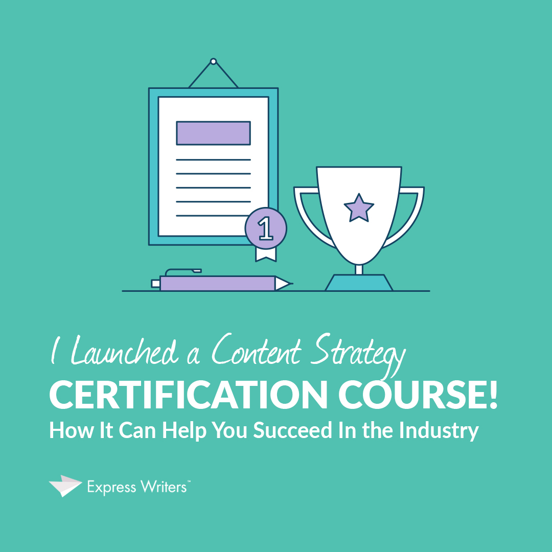content strategy certification course