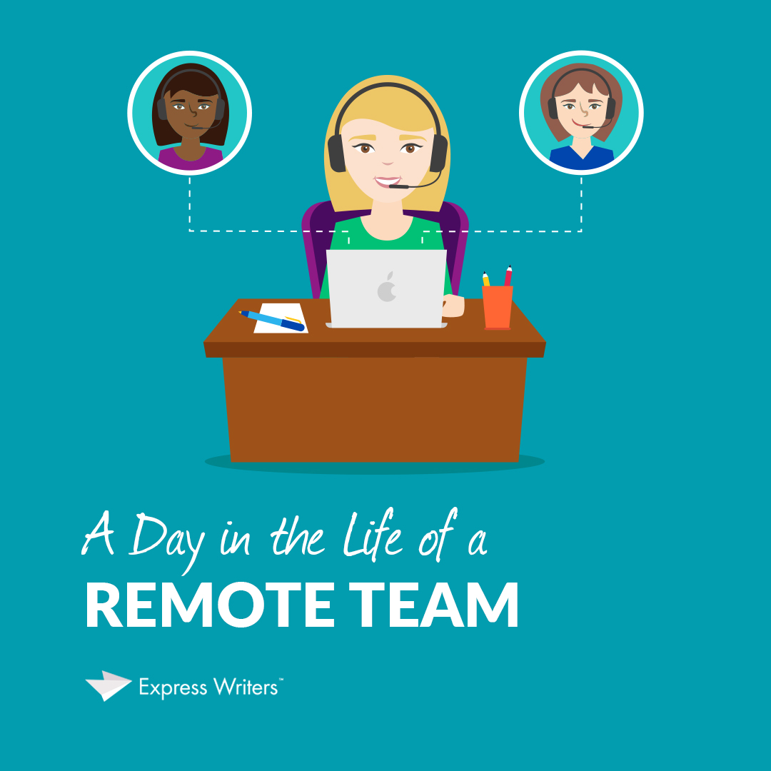remote team at express writers