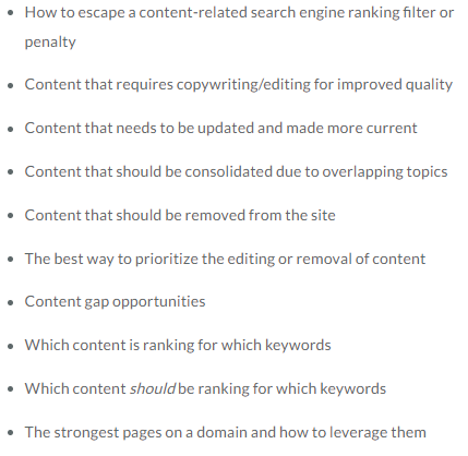 Reasons for Performing a Content Audit