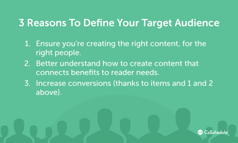 Three Reasons to Define Your Target Audience