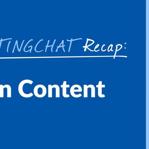 #ContentWritingChat Recap: Language in Content with Tara Clapper