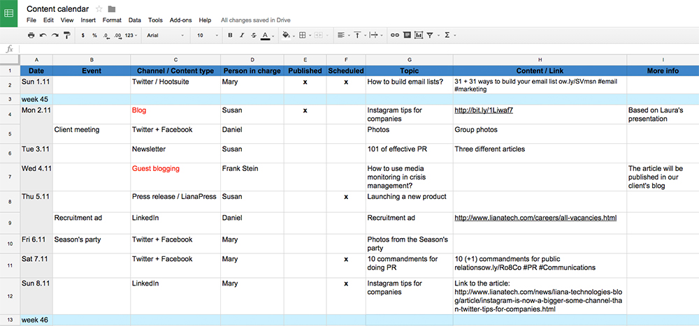 content-calendar-example