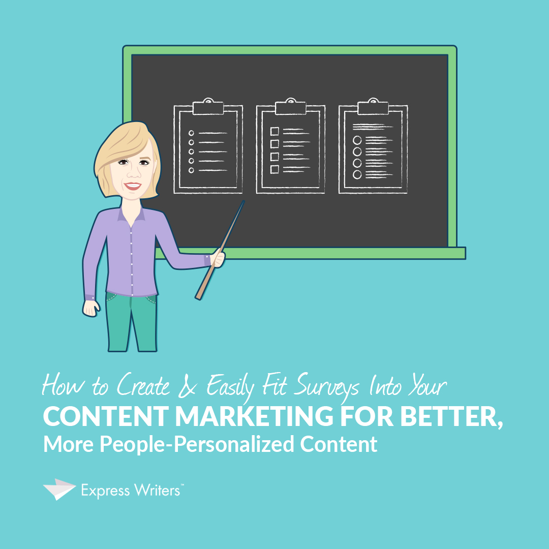 surveys, surveys in content marketing