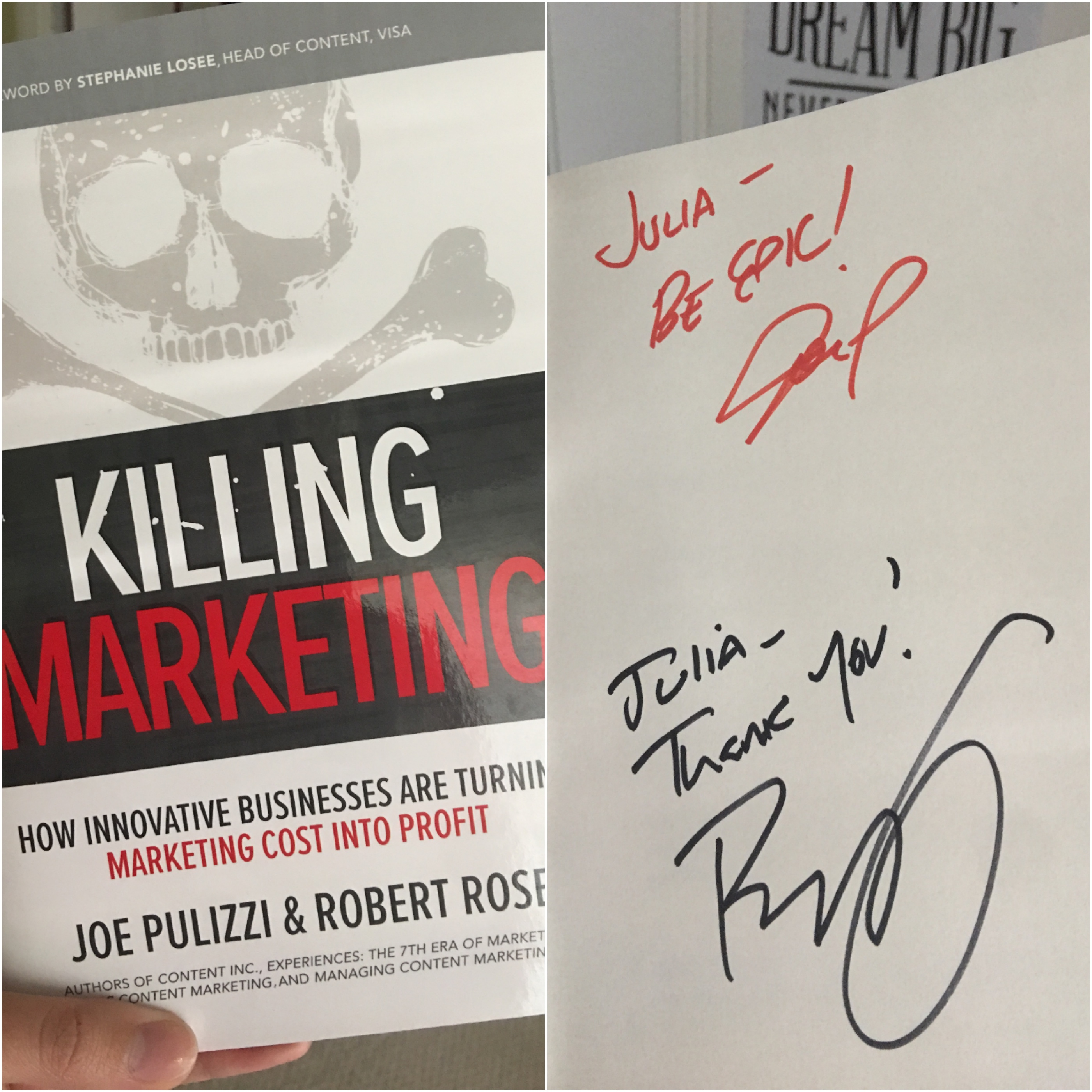 joe pulizzi signed book